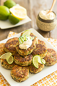 Loaded Cauliflower Fritters