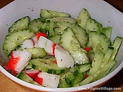 Cucumber & Crab Salad