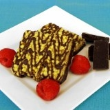Raspberry Dark Choco Square